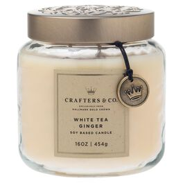 Crafters & Co. White Tea Ginger 16-oz Candle, , large