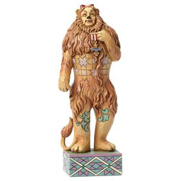 Jim Shore If I Only Had the Nerve—Cowardly Lion With Medal of Courage Figurine, , large