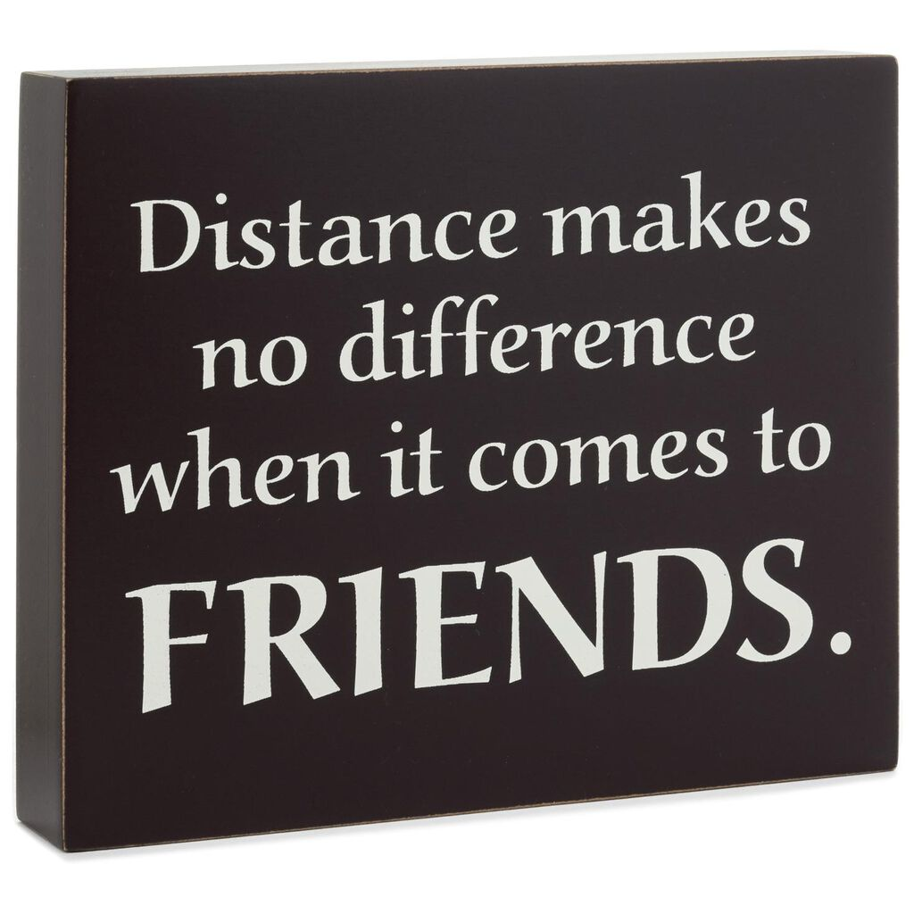 Friendship Withstands Distance Wood Quote Sign 7x6 Plaques