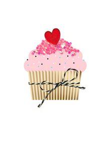Cupcake With Sprinkles Valentine's Day Card,