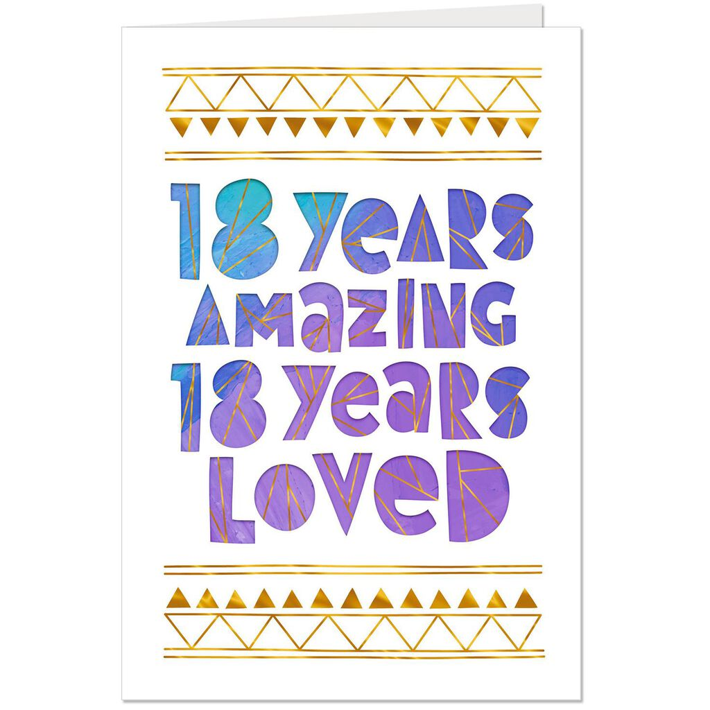 Loved And Amazing 18th Birthday Card