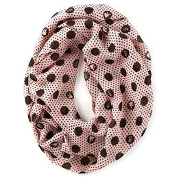 Barbie™ Pink With Black Dots Infinity Scarf, , large