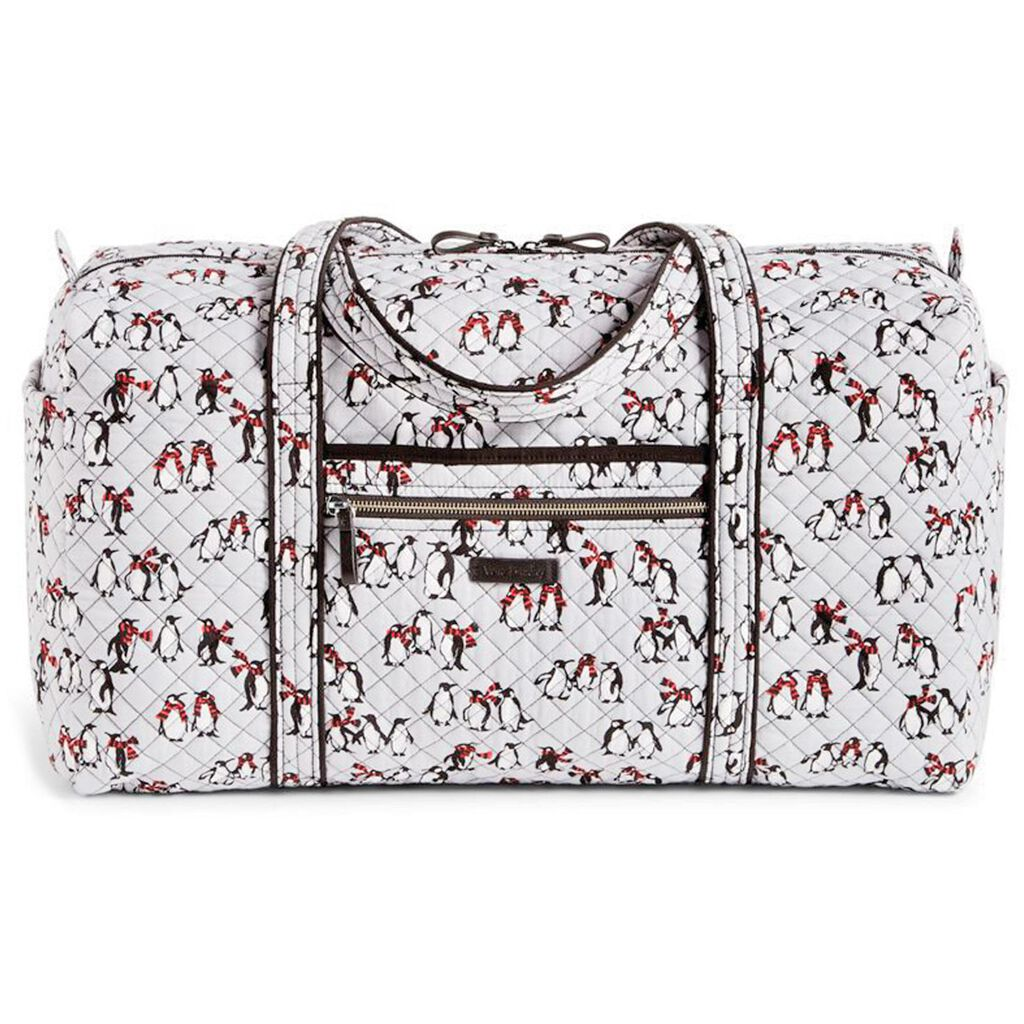 556722aa918 ... the latest d673a f1a9e Vera Bradley Iconic Large Travel Duffel in  Playful Penguins Gray ...