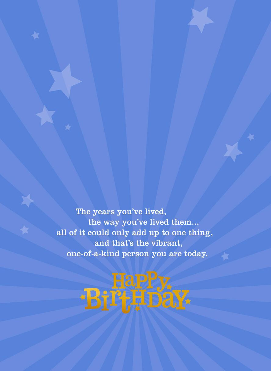 Vibrant Gold And Silver 70th Birthday Card Greeting Cards Hallmark