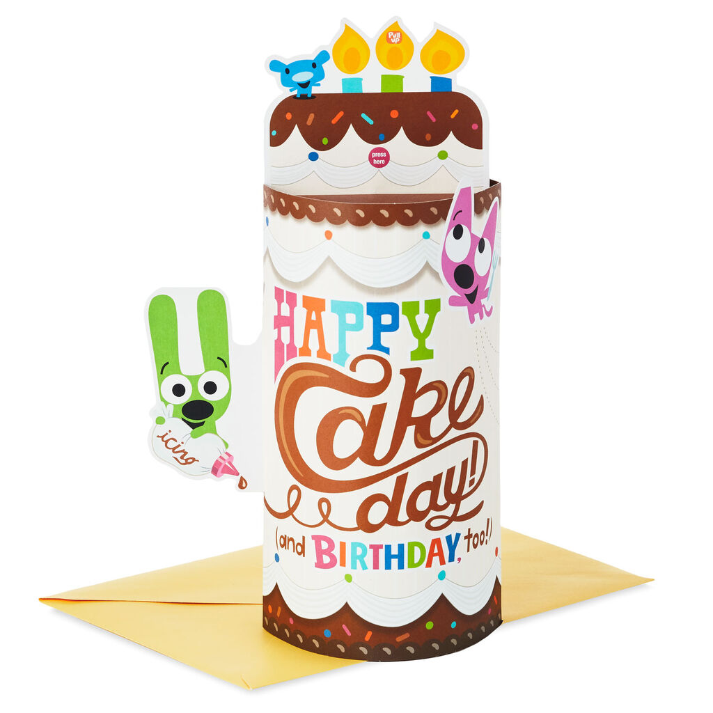 Pop Up Birthday Cake Sound Card