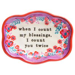 Natural Life Count My Blessings Small Artisan Trinket Dish, , large