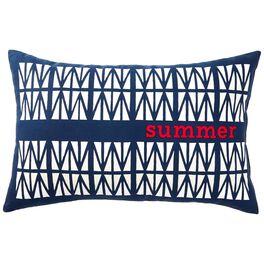 Summer Patriotic Rectangle Indoor/Outdoor Pillow, 21x12.5, , large