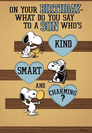 Snoopy Love Ya! Son Birthday Card