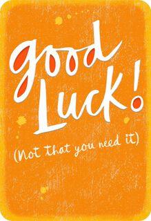 Good Luck Encouragement Card,