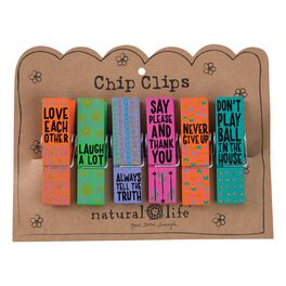 Natural Life Love Each Other Chip Clips—Set of 6, , large