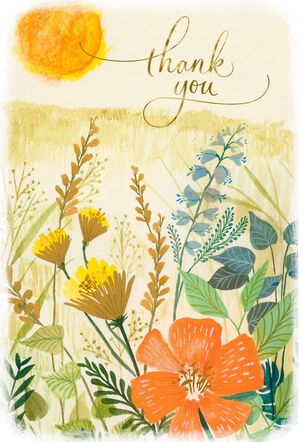 Sunny Wildflowers Thank You Card