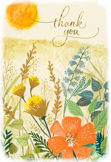 Sunny Wildflowers Thank You Card,