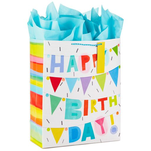 5c258e79a Happy Birthday Banners Extra-Large Gift Bag With Tissue, 15.5