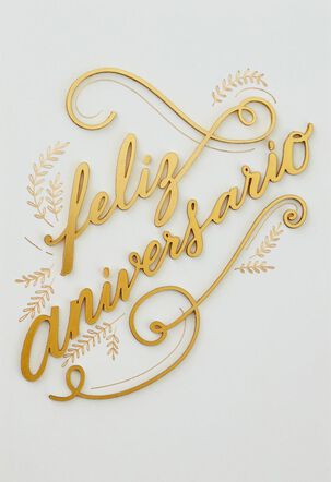 Feliz Aniversario Spanish Language Anniversary Card From Both