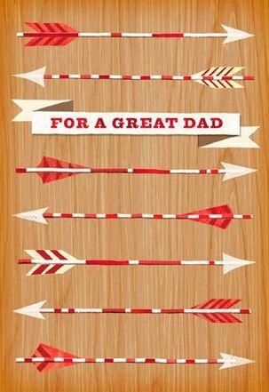 Valentine Arrows for Dad Valentine's Day Card