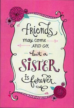 Sister Forever Friend Valentine's Day Card