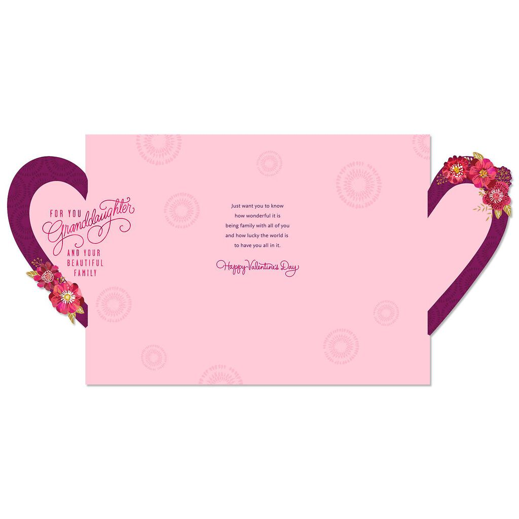 Lucky World Valentines Day Card For Granddaughter And Family