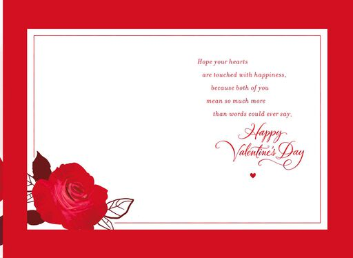 Two Roses Valentine's Day Card for Daughter and Son-in-Law,