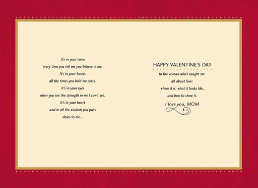 Love is Wherever You Are Valentine's Day Card for Mother,