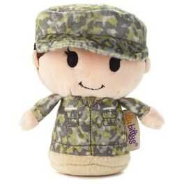 itty bittys® Green Camo Girl Stuffed Animal, , large