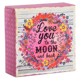 Natural Life Love You to the Moon Canvas Keepsake, , large