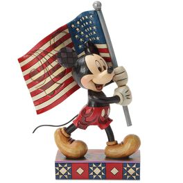 Jim Shore® Mickey Mouse Old Glory Flag Figurine, , large