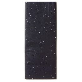 Black With Sparkles Tissue Paper, , large