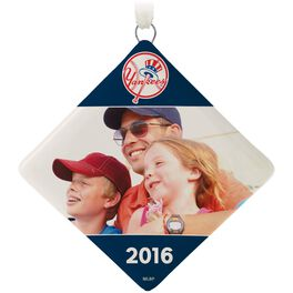 New York Yankees™ Ceramic Personalized Ornament, Diamond-Shaped, , large