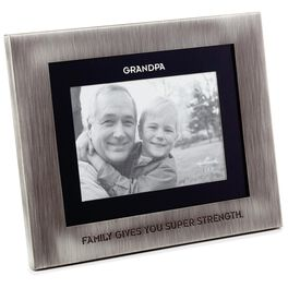 Grandpa Silver and Black Picture Frame, 4x6, , large