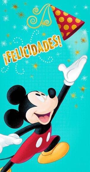 Mickey Mouse Spanish-Language Money Holder Birthday Card