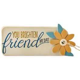 You Brighten My Day Friend Resin Gift Tag, , large