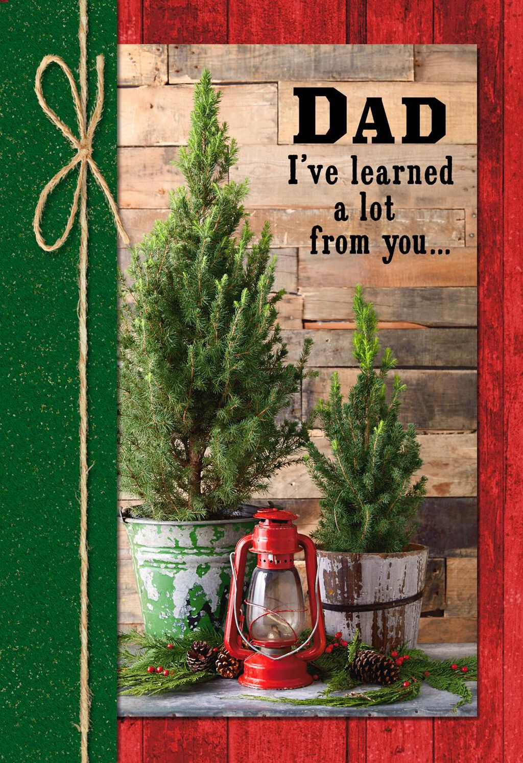 Rustic Pine Trees Christmas Card for Dad - Greeting Cards - Hallmark