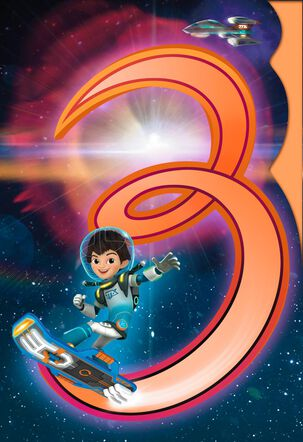 Disney Miles From Tomorrowland Musical 3rd Birthday Card