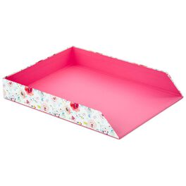 Haute Girls™ Pink Floral Paper Tray, , large