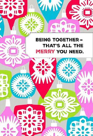 Being Together Christmas Card