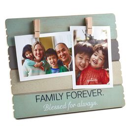 Family Forever Wooden Picture Frame with Clips, 4x6, , large
