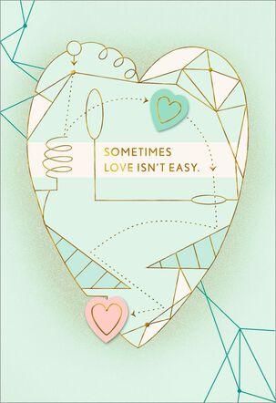 Heart Diagram Apology Card