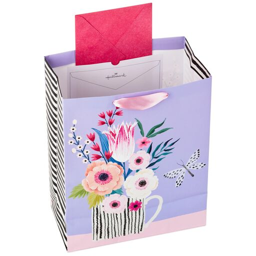 b948a783bbb ... Mug of Flowers Large Gift Bag With Tissue and Tag