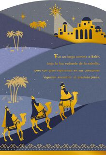 Journey of the Three Wise Men Spanish-Language Christmas Card,
