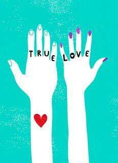 True Love Valentine's Day Card,