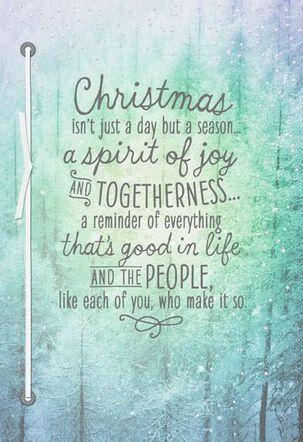 Joy and Togetherness Christmas Card