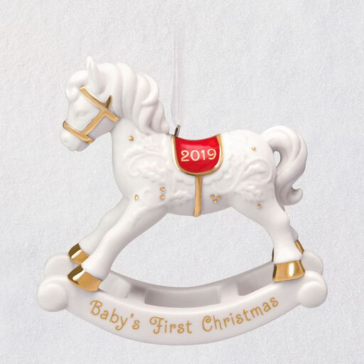 b42a07fd7 Baby's First Christmas Rocking Horse Porcelain Ornament, ...