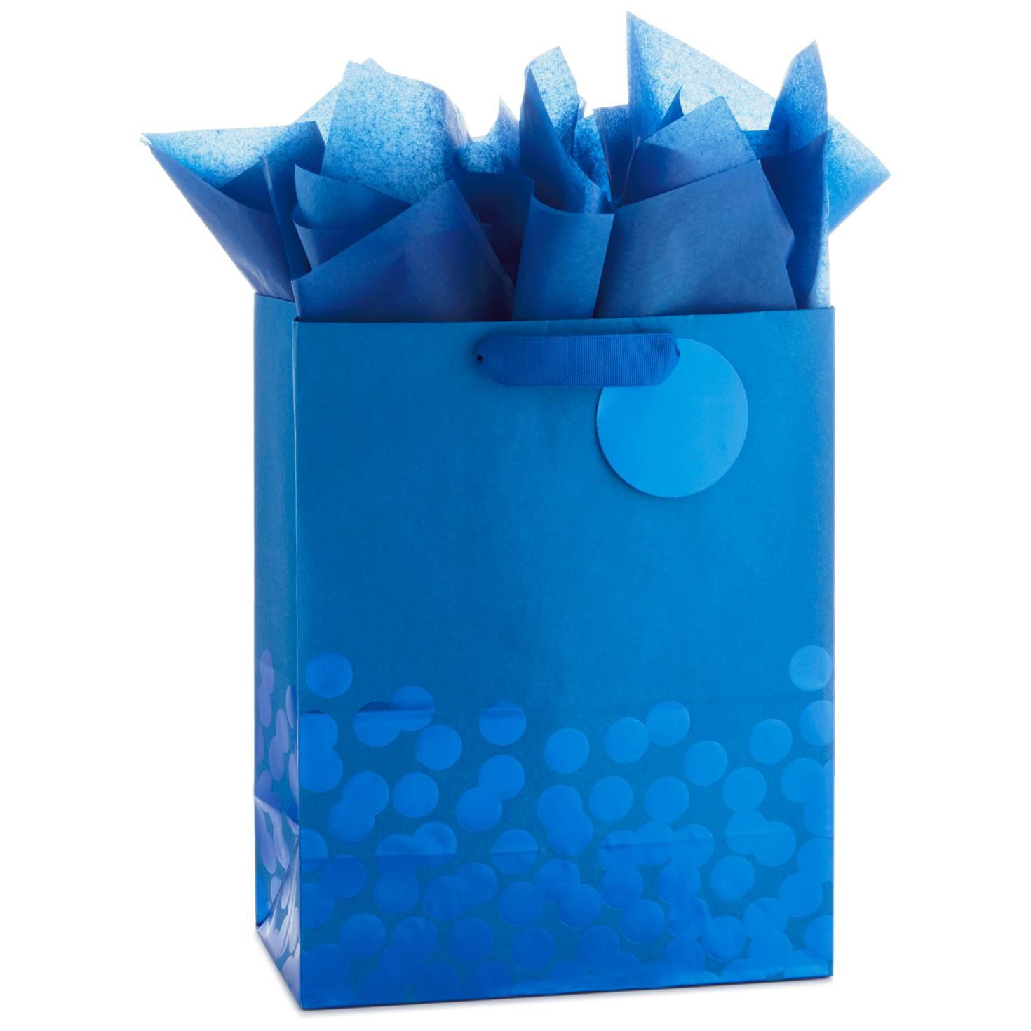 Blue Foil Dots Large Gift Bag With Tag and Tissue 13   sc 1 st  Hallmark & Gift Bags | Hallmark