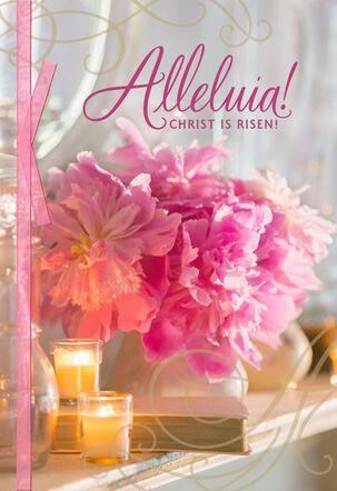 Christ Is Risen! Peonies Easter Card