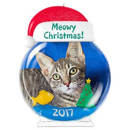 Meowy Christmas! Cat Picture Frame Ornament, , large
