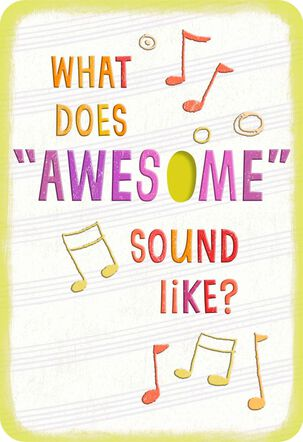 Awesome Musical Performance Congratulations Card