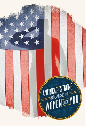 Salute to Strong Servicewomen Veterans Day Card