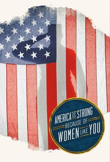 Salute to Strong Servicewomen Veterans Day Card,
