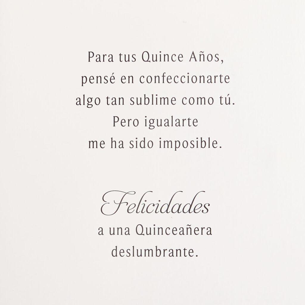 Spectacular 15 Spanish Language Quinceañera Card