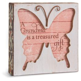 Grandma Butterfly Plaque, , large